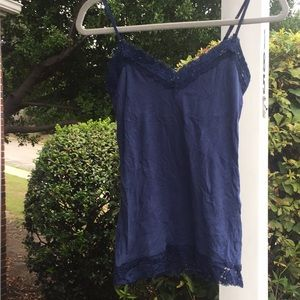 American Eagle Lace Top Tank with built in bra